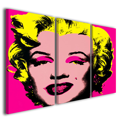 QUADRI POP ART Marilyn Monroe pop art arredo casa stampa tela canvas ...