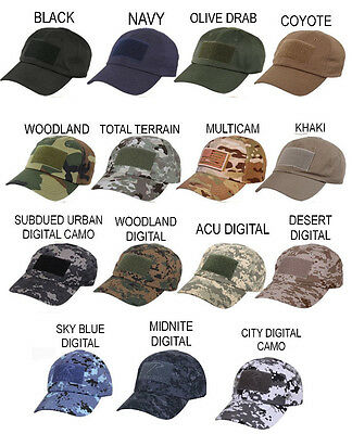 60d0360631129 Rothco Operator Cap Tac Ops Tactical Baseball Style Cap Front Hook Patch  Panel
