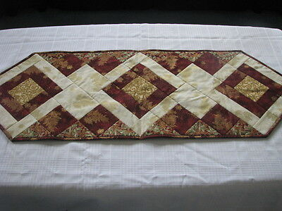 "New Handmade Christmas  Quilted Table Runner 42"" X 14.5"""