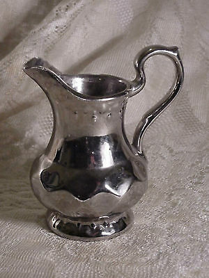 Vintage Silver Lustre Wade Creamer England 4.25 inches