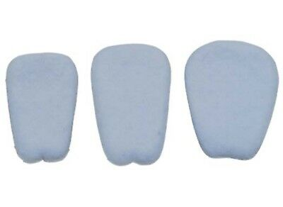 3 PAIR  FELT SHOE TONGUE PADS self adhesive REDUCES HEEL SLIPPING