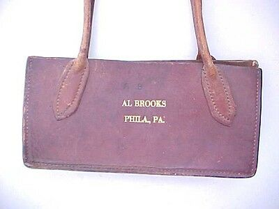 United States Engraved Currency Plates Leather Satchel Al Brooks Philadelphia PA