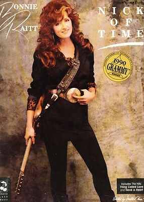 1990 BONNIE RAITT Nick Of Time Piano/Voice/Guitar scarce