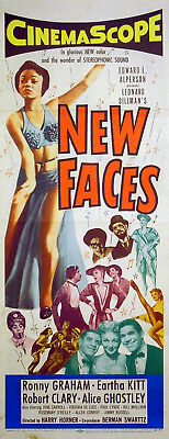 NEW FACES 1954 Eartha Kitt Ronny Graham US INSERT POSTER