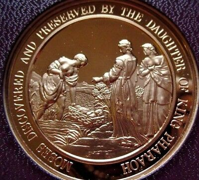 Thomason Medallic Bible 20: MOSES DISCOVERED by PHARAOH's DAUGHTER Franklin Mint