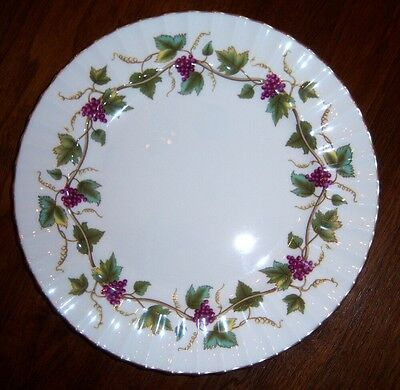Royal Worcester BACCHANAL WHITE #Z2822  Luncheon Plate