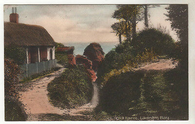 Old Farm Ladram Bay - Photo Postcard 1911
