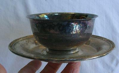 Older Silver Plate Serving Dish / Tray 7 1/2""
