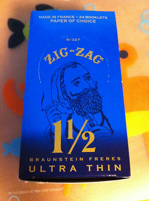 Zig Zag Ultra Thin 1 1/2 (1.5) Rolling Cigarette Papers 24 Packs