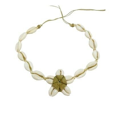 Hawaiian Jewelry All Cowry Shell Plumeria Flower White Necklace From Maui Hawaii