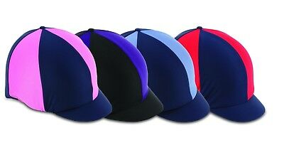 Horse Riding Hat Cover - Stretch one size Navy/Cam - by Shires