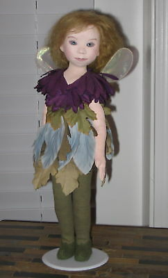 "Kate Lackman OOAK Fairy 16"" Painted Cloth Doll 1994"