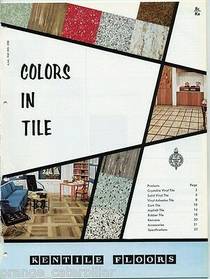 1959 Kentile Floors Catalog Flooring Vinyl Asbestos Tile Patterns Colors Vintage