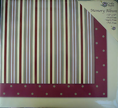 12'X12' Striped Post Bound Scrapbook Album - Crafty Koala