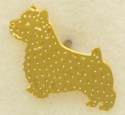 Norwich Terrier Jewelry Small Gold Pin