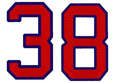 """2 Custom Embroidered Number Patch Softball Baseball Sport Jersey Applique 3"""""""