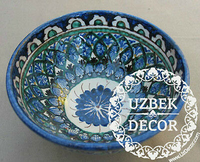 UZBEK NATIONAL HAND MADE PAINTED CERAMIC CUP ''COSA'' #8706