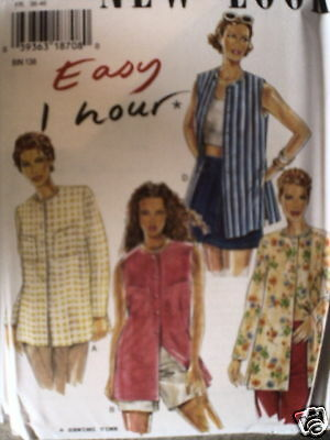 Vintage NEW LOOK SEWING Pattern 6481 EZ Misses 1Hr Shirt Blouse 8-18 UNCUT OOP