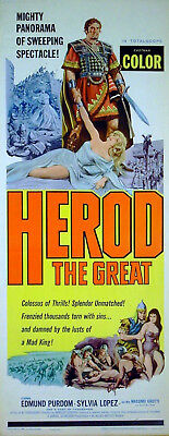 HEROD THE GREAT 1959 Edmund Purdom Sylvia Lopez US INSERT POSTER