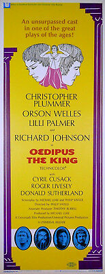 OEDIPUS THE KING 1967 Christopher Plummer Lilli Palmer US INSERT POSTER