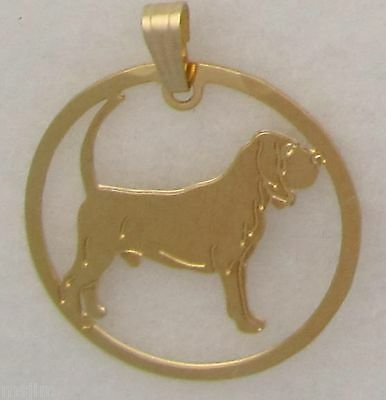 Bloodhound Jewelry Gold Pendant by Touchstone