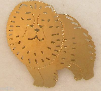 Chow  Chow Jewelry Large Gold Pin by Touchstone