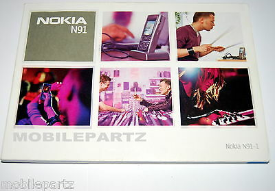Genuine Nokia N91 Mobile Printed User Guide Manual English Language Version New