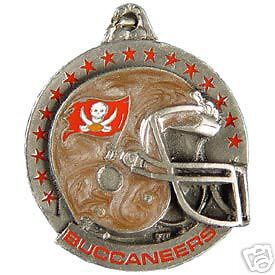 NFL FOOTBALL TAMPA BAY BUCCANEERS PEWTER KEY RING CHAIN