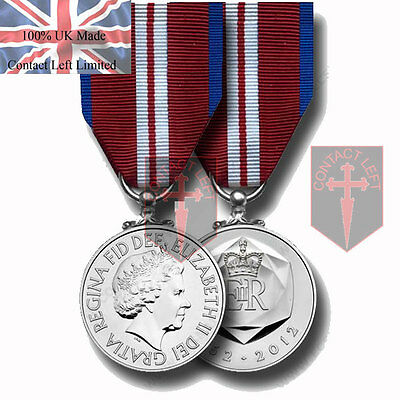 In Stock Official Queens Diamond Jubilee Miniature Medal and Ribbon (Posting Now