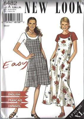 6482 Vintage UNCUT New Look Sewing Pattern Misses Jumper S - XL OOP SEW EASY FF