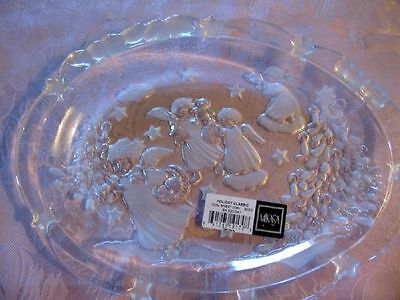 MIKASA  Holiday Classic Clear Glass Oval ANGEL Sweet Dish Made in Germany