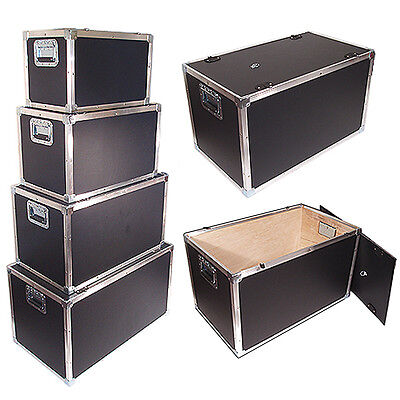 "New Design! LATCHLESS FLAT LID UTILITY TRUNK 1/4"" - 24x14x14 Inside Dimensions"