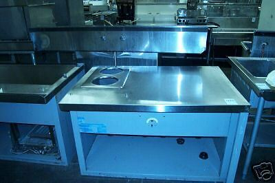 Food Warmer/ Stainless Steel Table Combo, 115 Volts