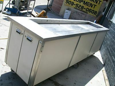 Salad Bar, On Casters, Non Refrigerated, Long, S/s Tub, 900 Items On E Bay
