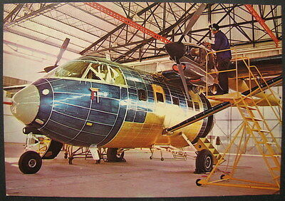 THE ARAVA FIRST PLANE MADE BY ISRAEL AIR CRAFTS INDUSTRIES- OLD PC POSTCARD 70's