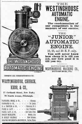 Westinghouse Automatic Engine Advertisement, Westinghouse Machine Co. Pittsburgh