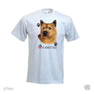 I Love My Norwich Terrier Design Printed On A T-Shirt