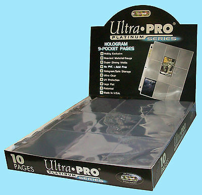 10 ULTRA PRO PLATINUM 9-POCKET Card Pages Sheets Protectors Sports Collectible
