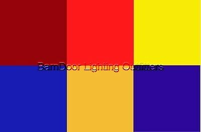 """Rosco E Color  Party Lighting Gels Pack 6 Shts 10""""x12"""""""