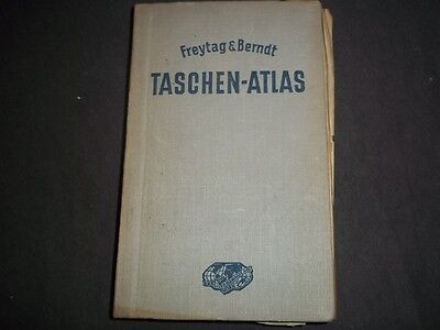 1938 Freytag & Berndt Taschen Atlas - Color Maps - German - Kd 727W