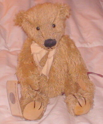 Mohair Stuffed Bear Bentley Russ Certificate Jointed Head Arms Legs Limited Ed