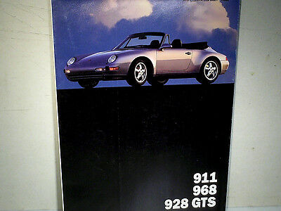 Depliant/affiche Gamme Porsche Usa 1994/ Carrera 911 968 928 /english Edition