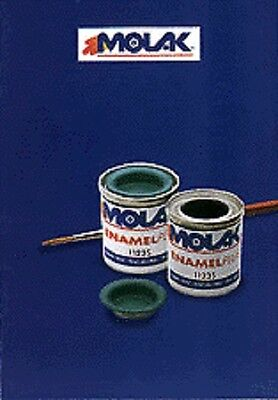 MOLAK ENAMEL PAINT SMALTO 18ml 1125-S U.S DARK GREY - NUOVO