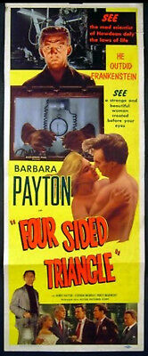 FOUR SIDED TRIANGLE 1953 Barbara Payton, James Hayter, Stephen Murray US POSTER