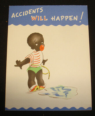 Vintage BLACK CHILD Greeting Card Lot with Box Collectors MUST L@@K