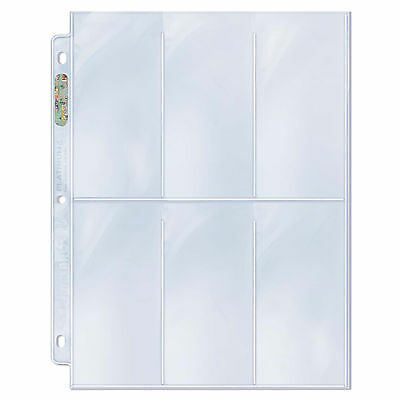 "Ultra Pro Platinum 6 Pocket 2.5"" x 5.25"" Pages 50 count"