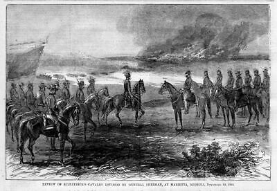 Marietta, Georgia, Review Of Kilpatrick's Cavalry Division By General Sherman