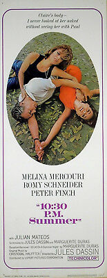 10:30 PM SUMMER 1966 Melina Mercouri Romy Schneider Peter Finch US INSERT POSTER