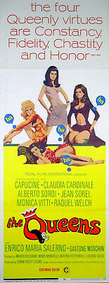 QUEENS 1966 Raquel Welch Monica Vitti Claudia Cardinale US INSERT POSTER