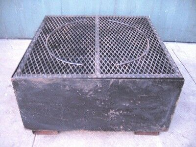 Steel Spill Leak Containment Pallet Single 1 Drum Barrel Flammable Hd Grating